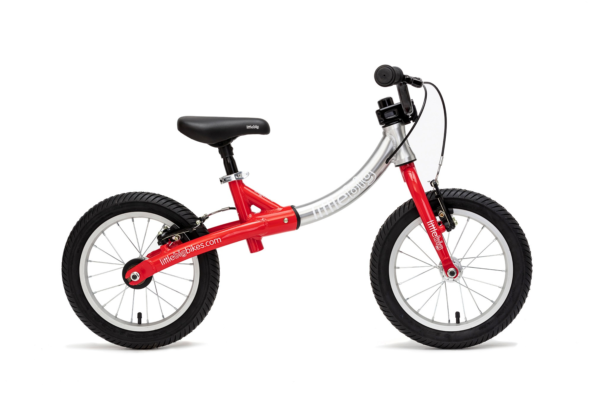 big balance bike flame red side viewbig balance bike flame red side view