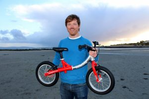 Founder Simon Evans with a LittleBig bike