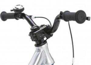 Forged alloy BMX stem, alloy riser handlebars, integrated ball bearing headset
