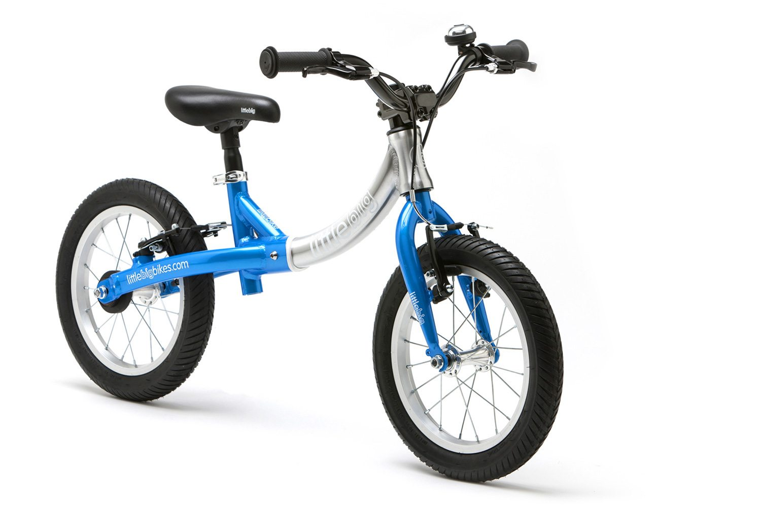 LittleBig big balance bike, Electric Blue - front view
