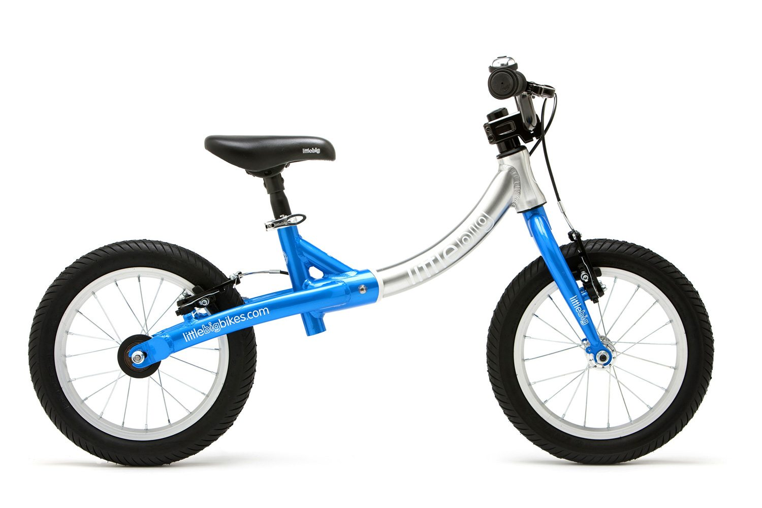 LittleBig big balance bike, Electric Blue - side view