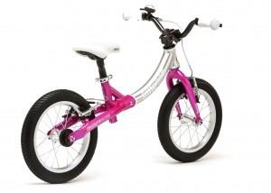 LittleBig big balance bike, Sparkle Pink - back view