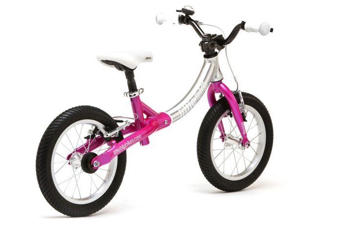 LittleBig big balance bike, Sparkle Pink - back view