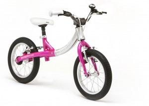 LittleBig big balance bike, Sparkle Pink - front view