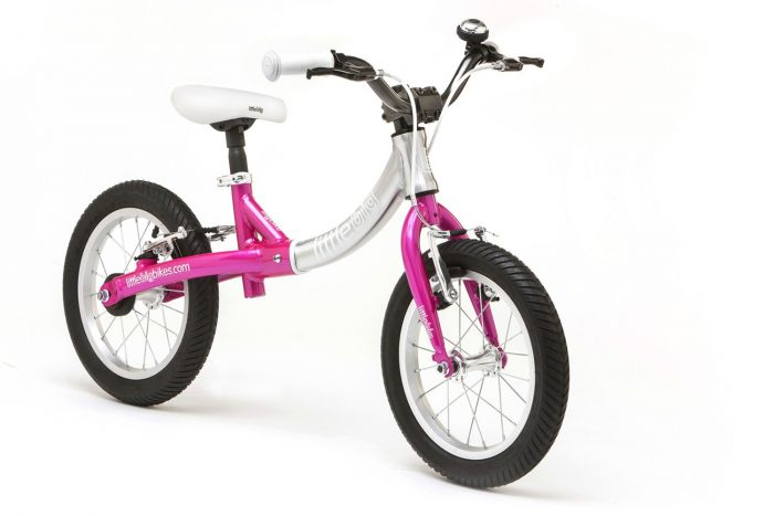 LittleBig big balance bike, Sparkle Pink - front view