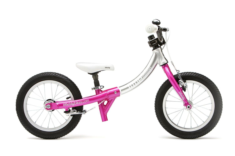 LittleBig little balance bike, Sparkle Pink - side view