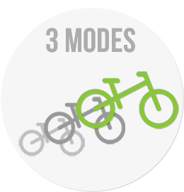 LittleBig has 3 modes, little balance bike, big balance bike and big pedal bike