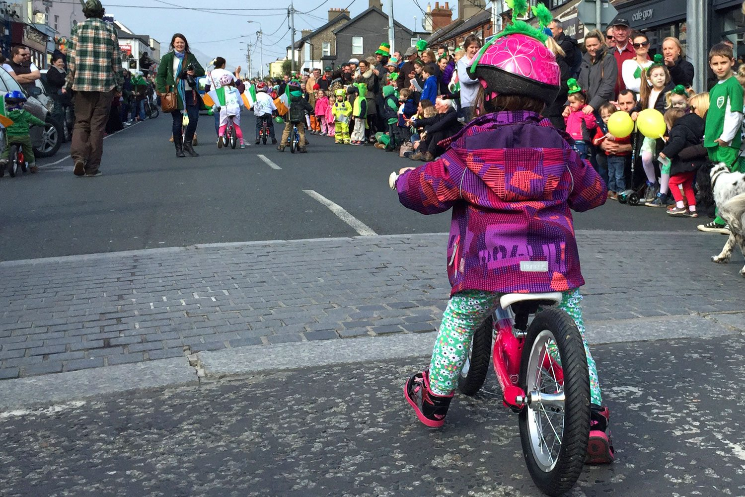 Two year old on a balance bike