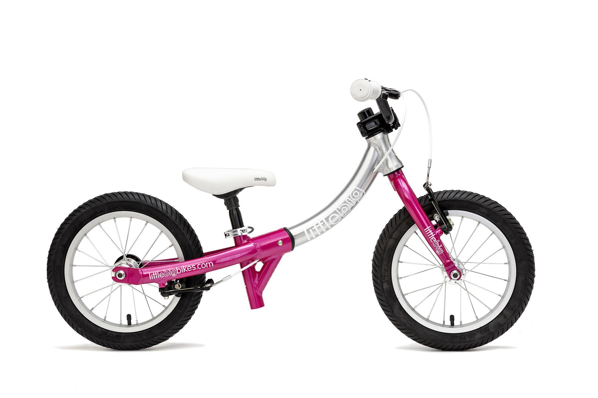 LittleBig little balance bike pink side