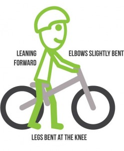 Correct position on the balance bike