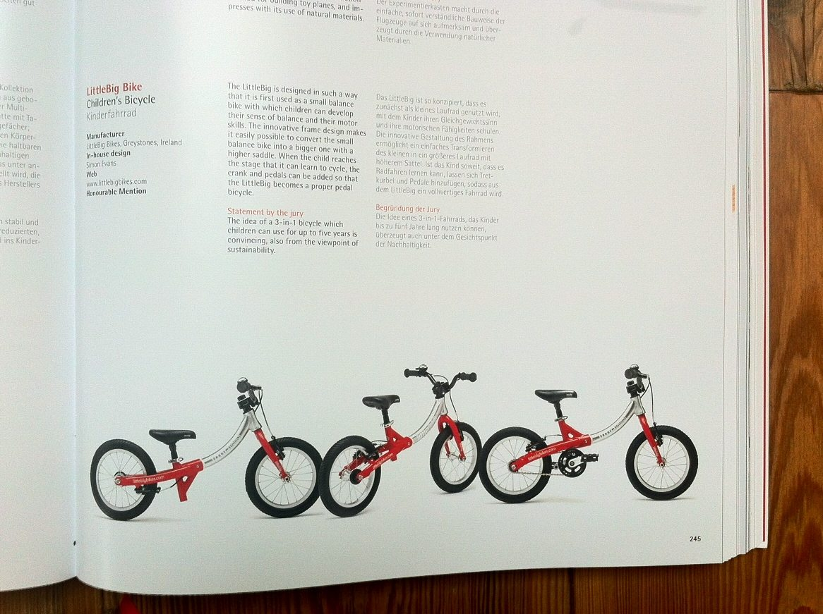 LittleBig bike in the Red Dot Design Yearbook 2015