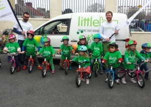 Kids age 2-7 on their LittleBig bikes