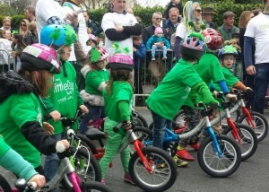 Kids age 2 to 7 on their LittleBig balance bikes and pedal bikes