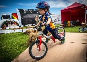 LittleBig balance bike at the Emerald Enduro in Wicklow, Ireland