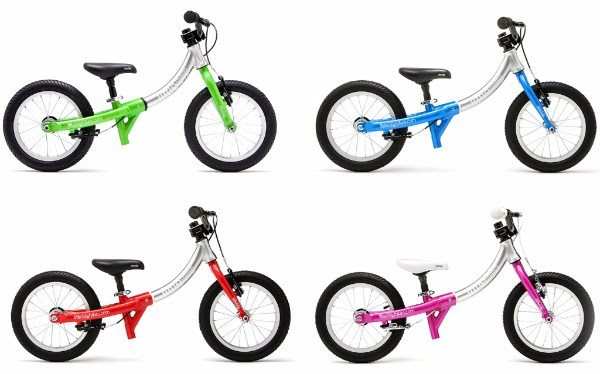 LittleBig balance bikes are available in four colours