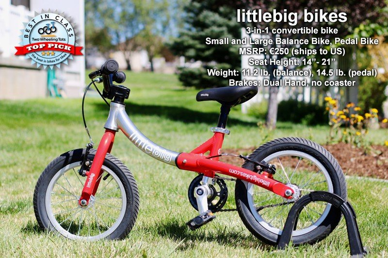 LittleBig balance bike review from Two Wheeling Tots
