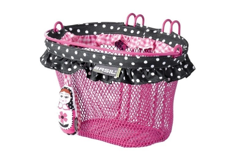 Pink Basil Basket for Kids Bike