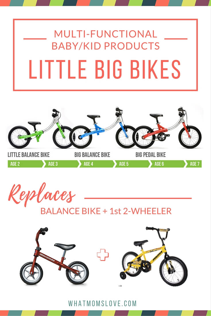 What Moms Love - LittleBig balance bike to pedal bike convertible