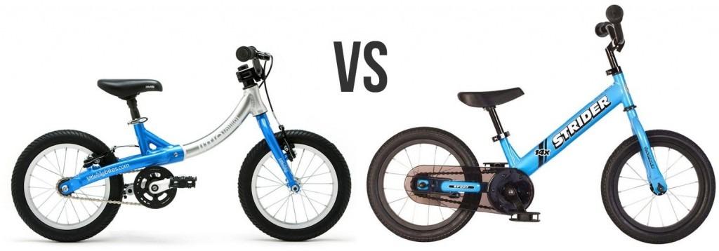 littlebig bike vs strider 14x convertible balance bike with pedals