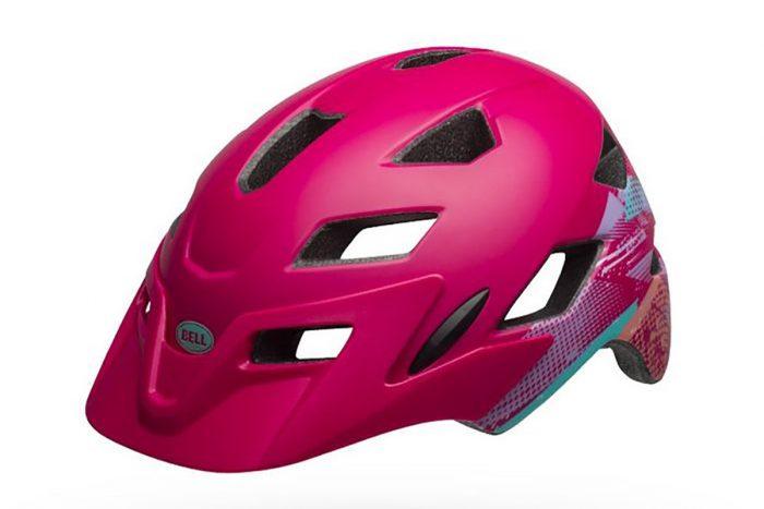 bell sidetrack helmet pink