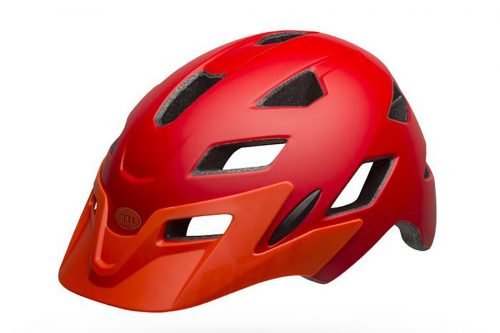 bell sidetrack helmet red and orange