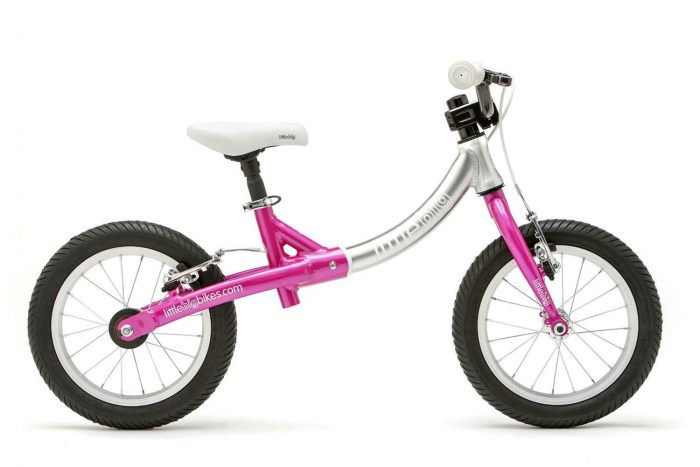 LittleBig big balance bike pink side view