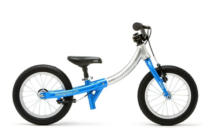 LittleBig little balance bike for a 2 or 3 year old electric blue