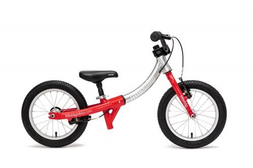 little balance bike flame red side