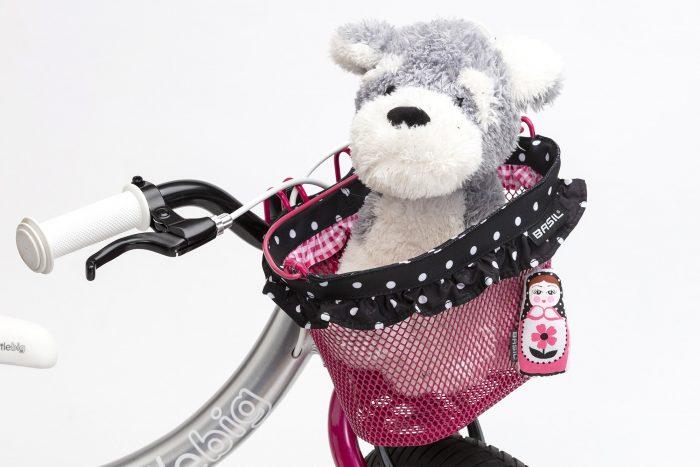 littlebig basil basket fitted to pink bike